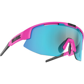 Bliz Matrix M12 Brille, shiny pink/brown with blue multi